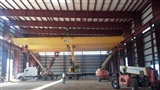 Installation of 50 Ton, 90' span, double girder, top running, cab controlled bridge crane