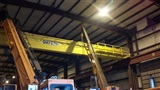 Installation of 50 Ton capacity, 80' span double girder, top running, cab controlled bridge crane